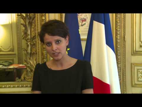 French Minister for Women's  Rights and Spokesperson for the Government, Najat Vallaud-Belkacem