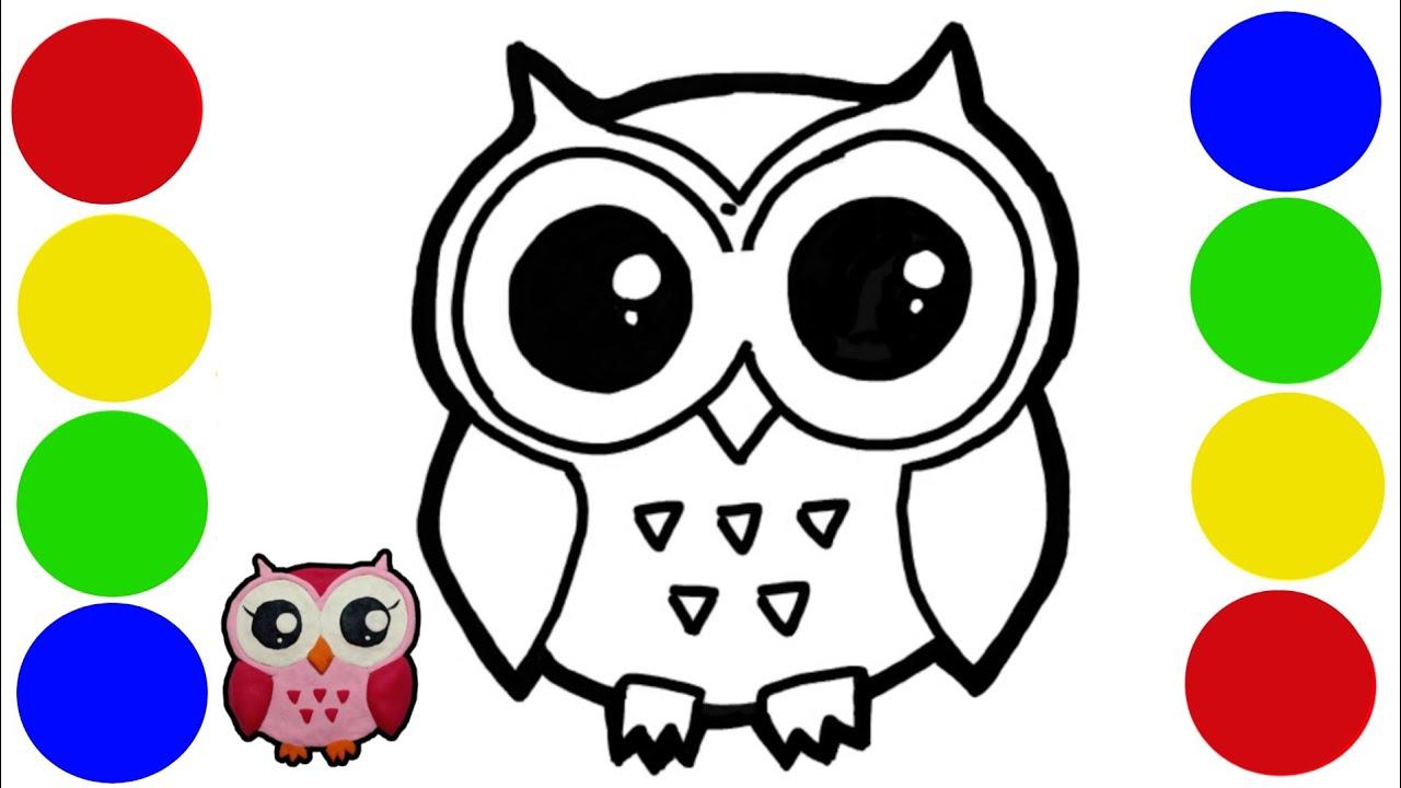 Menggambar Dan Mewarnai Burung Hantu Owl Dari Play Doh Mainan Lilin Plastisin Youtube