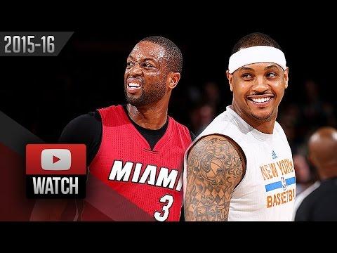 Dwyane Wade vs Carmelo Anthony Duel Highlights (2016.02.28) Knicks vs Heat - SICK!