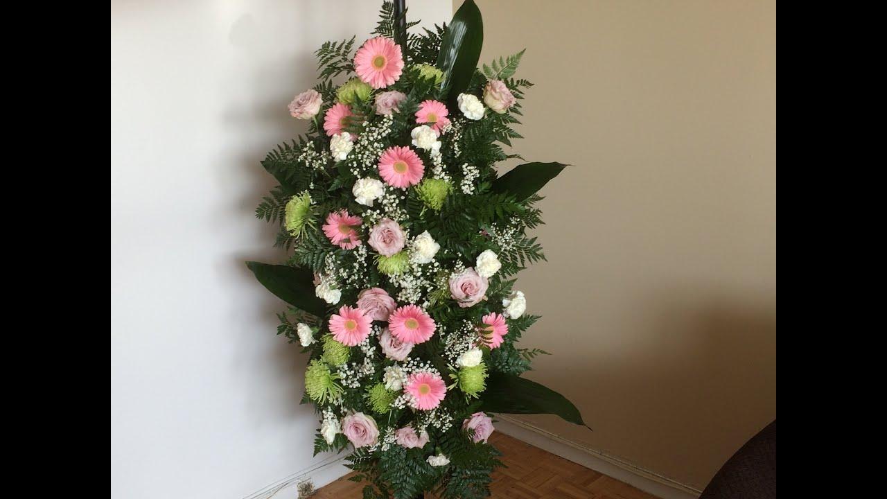 Como hacer una columna para bodas 1 3 english subtitles - Arreglos de flores naturales ...