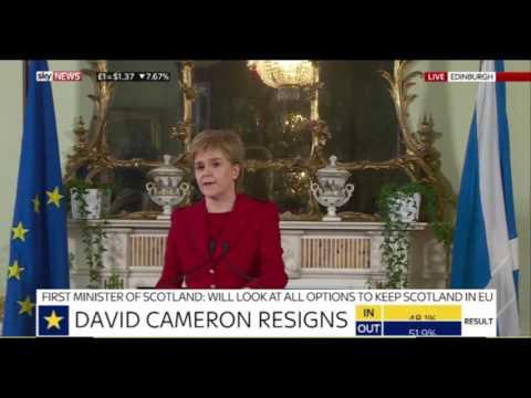 Nicola Sturgeon on a second independence vote