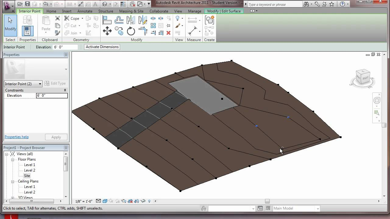 how to create pad and toposurface revit