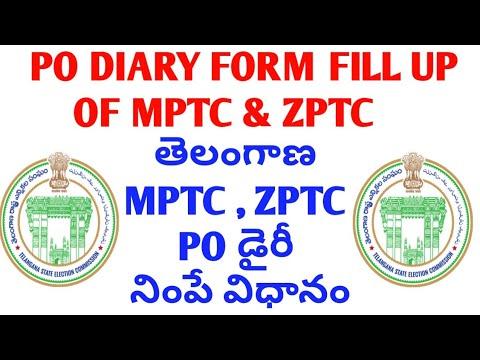 PO DIARY FOR MPTC ZPTC || HOW TO FILL PO DIARY IN MPTC ZPTC ELECTIONS TELANGANA