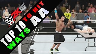 WWE 2K16 - TOP 10 Ways to Hit Attitude Adjustment!! HD