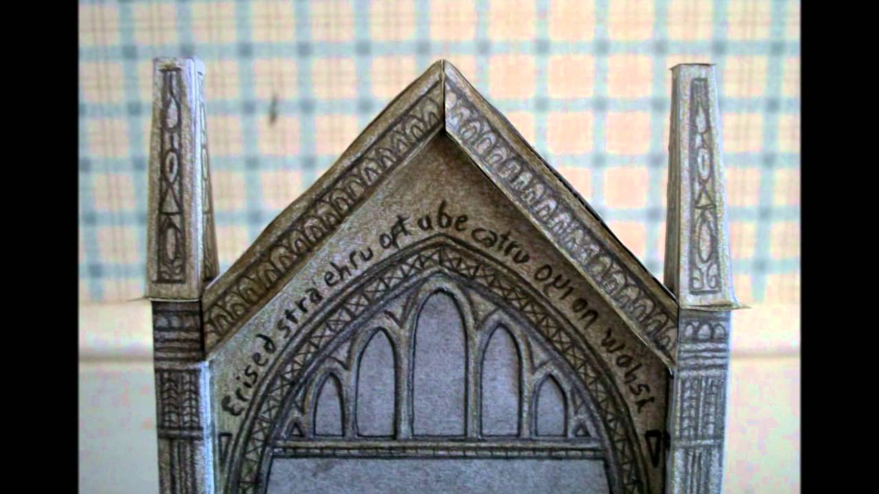 Papercraft Paper Model of The Mirror of Erised (Harry Potter)