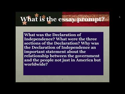 Declaration Of Independence Essay Prep