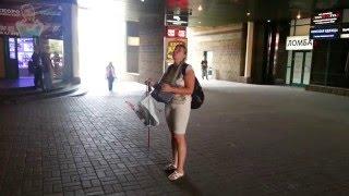 Слепая певица на станции метро пр  Володарского