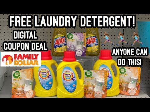 FREE LAUNDRY DETERGENT AT FAMILY DOLLAR | $0.00 OOP  🙌🏽| This Digital Coupon Deal Has Ended