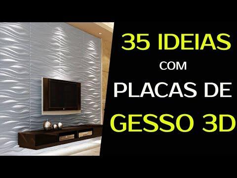 35 IDEIAS COM PLACAS DE GESSO 3D Para Paredes De Salas, Quartos, Cozinhas E Banheiros