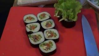 """Корейская кухня: рецепт приготовление закуски """"кимпаб"""""""