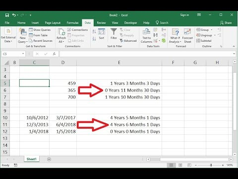 Ms Excel How To Convert Days Dates