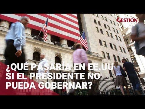 ¿Qué pasaría en Estados Unidos en caso el presidente no pueda gobernar?