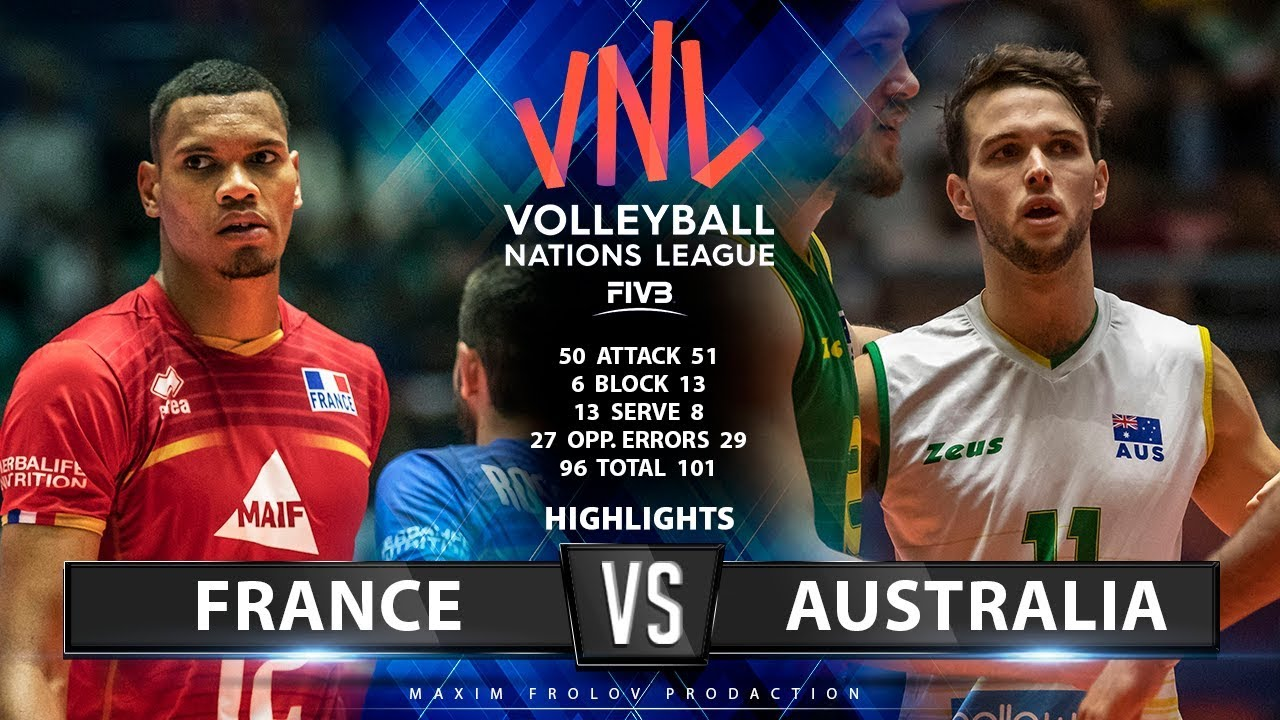 France vs Australia  | Match Highlights | Men's VNL 2019
