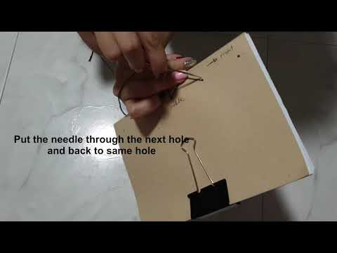 How to bind a book with recycled papers