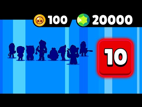 PACK OPENING BRAWL STARS PASS SAISON 6 je veux 5 LEGENDAIRES le CHIFFRE 10 (pack opening 20000 gems)