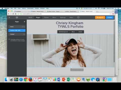 How to Create a Portfolio on Weebly
