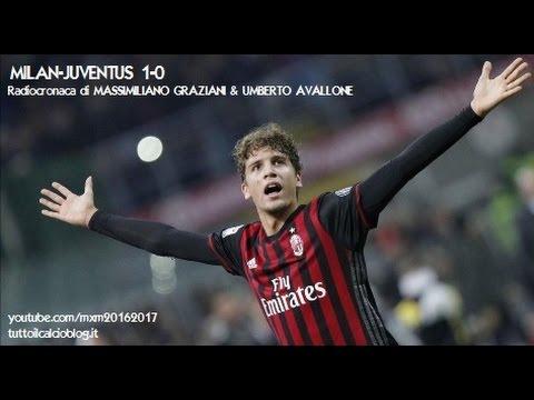 MILAN-JUVENTUS 1-0 - Radiocronaca di Massimiliano Graziani & Umberto Avallone (22/10/2016) Radio 1