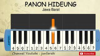 not pianika panon hideung - lagu daerah tradisional indonesia - belajar pianika not angka