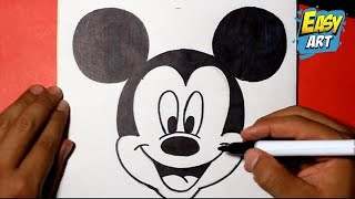 how to draw mickey mouse  disney -   como dibujar a mickey mouse