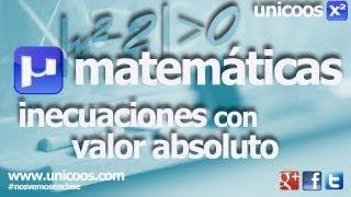 Inecuacion con valor absoluto 01 SECUNDARIA (4ºESO) matematicas