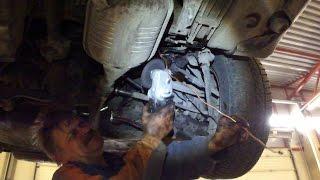 Ремонт тормозной трубки Mercedes W124 Brake line repair