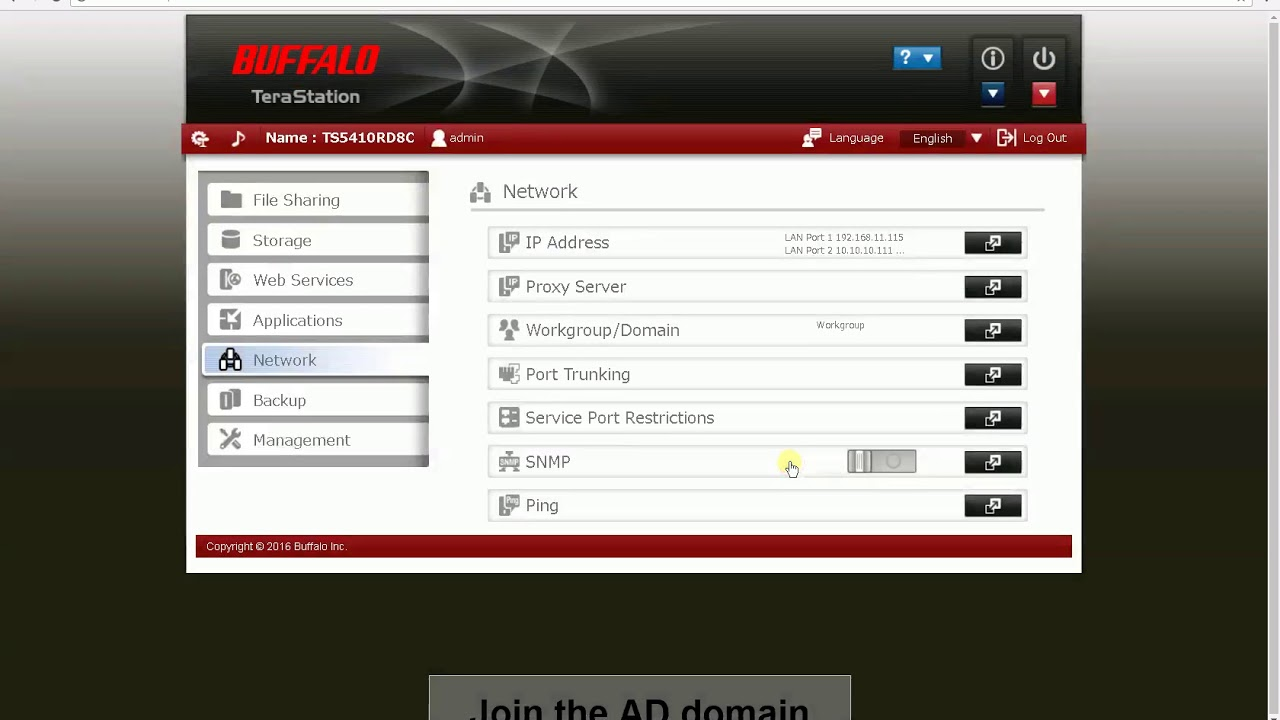 How-to: Join a Buffalo NAS device to an Active Directory Domain