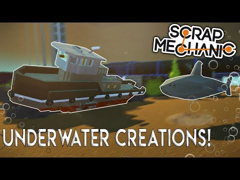 AI SHARK, SUNKEN SHIP, and MORE! - (Underwater Base) - Scrap Mechanic Gameplay (Viewer Creations)