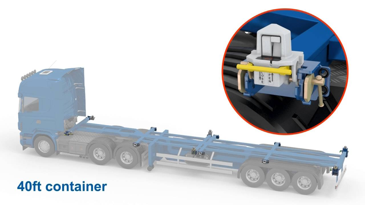 Container Quick Lock - Container locking systems with auto