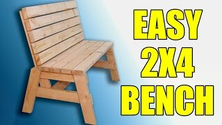 Build And Sell This Easy 2x4 Garden Bench - 104