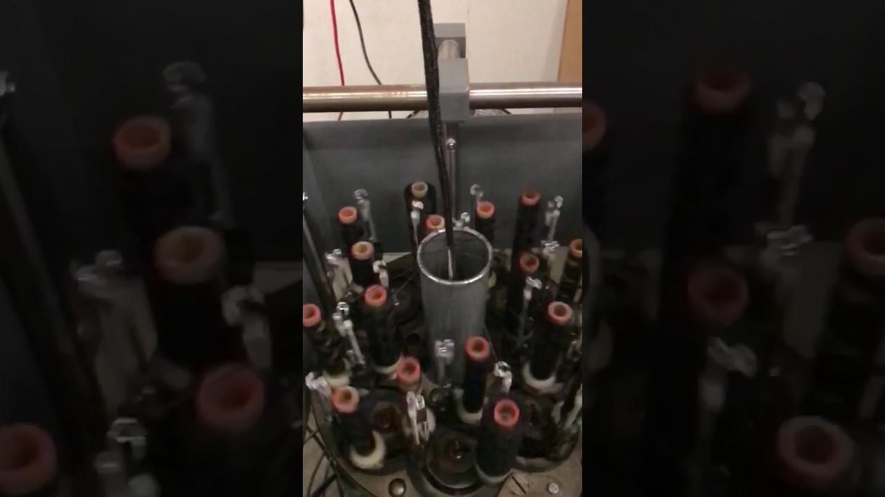 Wire Harness Braiding Machine Working In Slow Motion