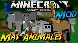 MAS ANIMALES MOD PARA MINECRAFT PE 0.14.0 | Mods Para Minecraft PE 0.14.0