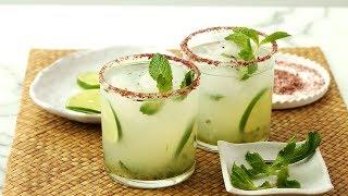 Smoky Serrano-Mint Margaritas - Martha Stewart