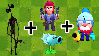 Plants vs Zombies Fusion Hack Animation ( Siren Head + Colt + Gale + Ice Peashooter )