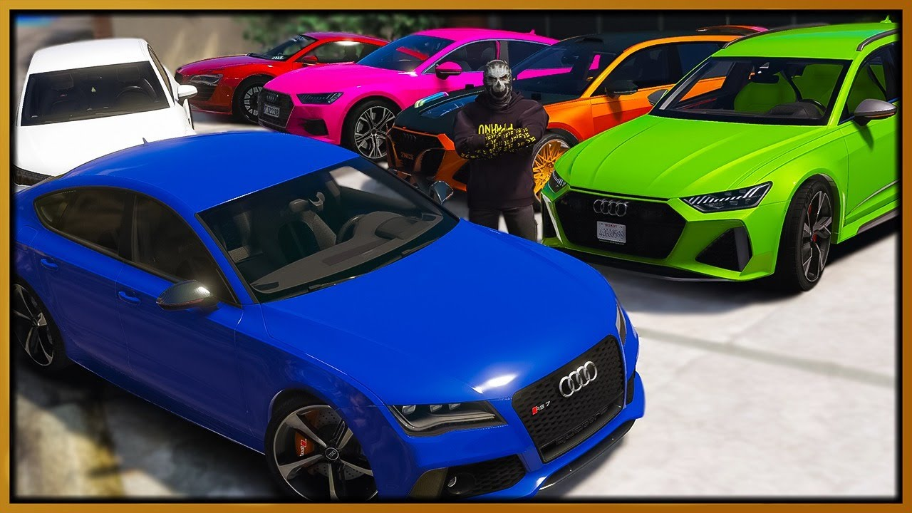 GTA 5 Roleplay - I Sell $7,500,000 Worth Stolen Audi Cars   RedlineRP
