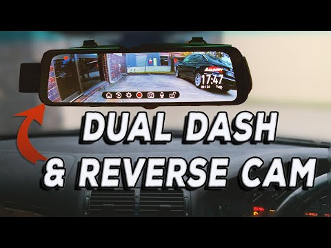 """New 10"""" Touch Screen Mirror Dash Cam Review and Front / Rear Camera Install - Acumen XR10"""