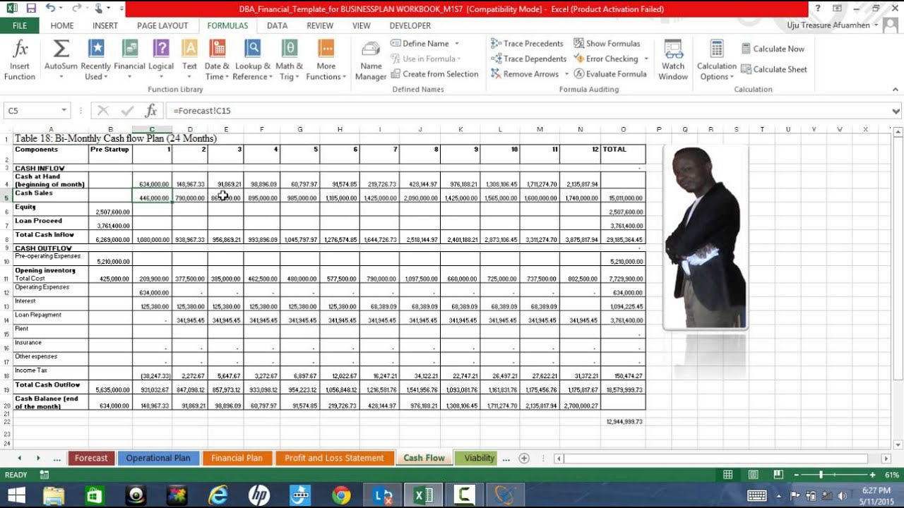 Business plan excel template explained cashflow by albert afuamhen business plan excel template explained cashflow by albert afuamhen fbccfo Images