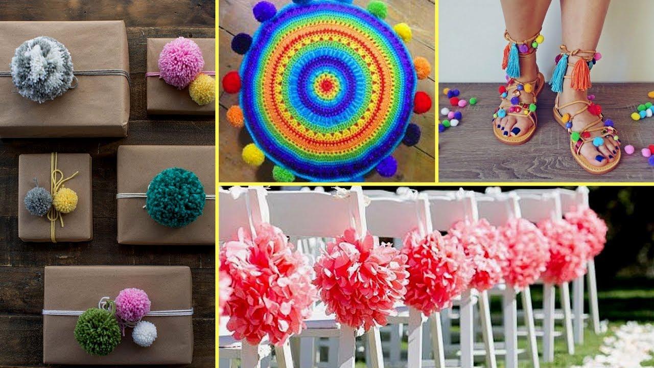 DIY Shabby chic style Pom Pom decor ideas 2017 I Home Decor ideas I Flamingo mango| ? & ? DIY Shabby chic style Pom Pom decor ideas 2017 I Home Decor ideas ...