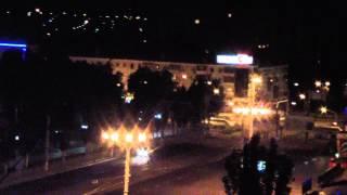 16.06.14. Война в Луганске. Ночной налет, сирена противовоздушной обороны.
