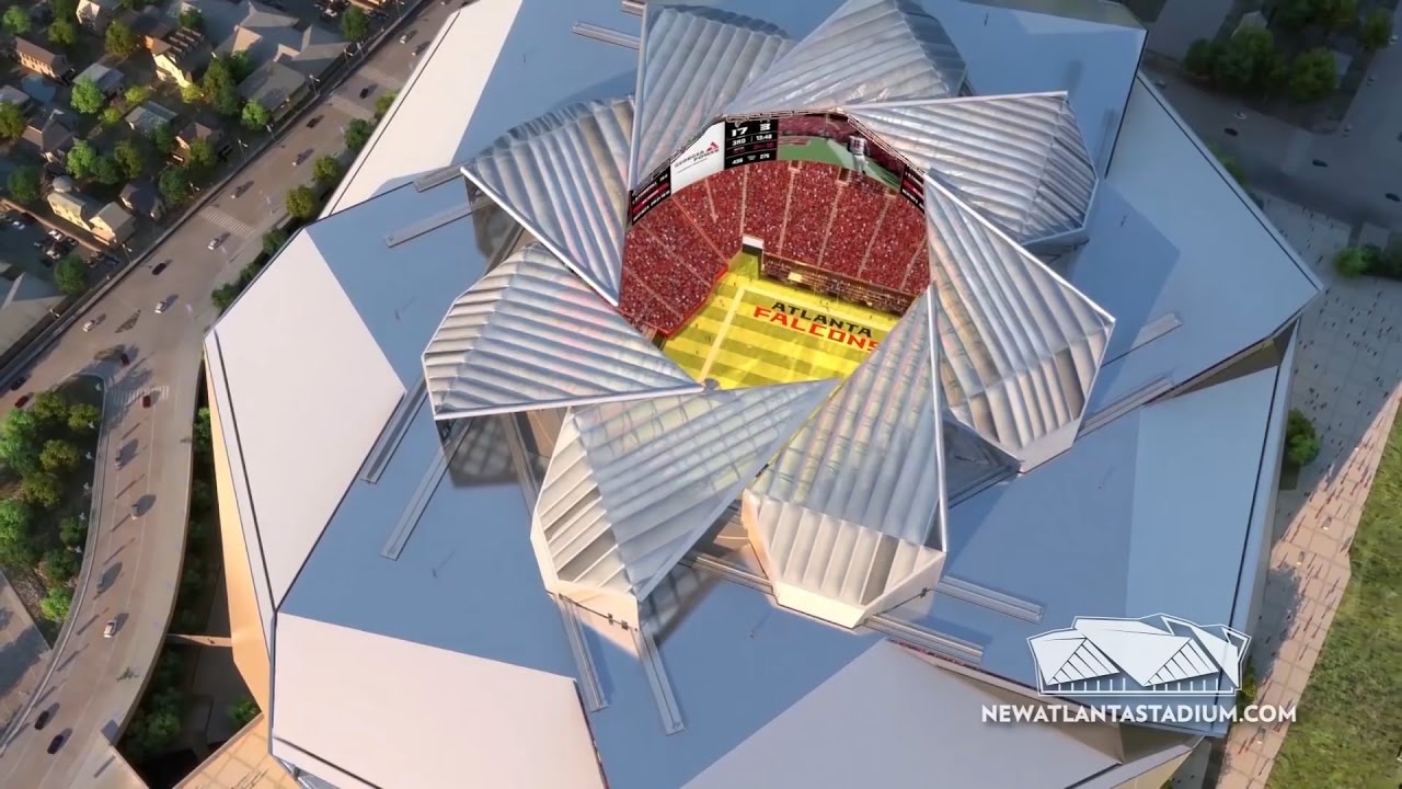 Atlanta S New Mercedes Benz Stadium Has A Retractable Roof