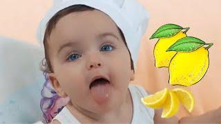 أول مرة بيبي يجرب الليمون 👶🏻🍋 ( ما توقعنا ردة فعله ) 😱