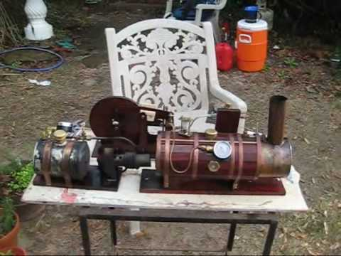 Home-made steam engine - YouTube