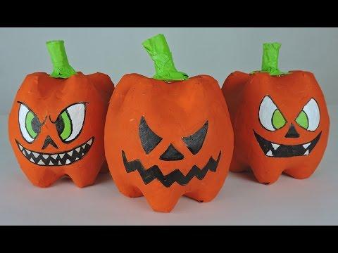 Como hacer calabazas de halloween con botellas plasticas youtube - Como hacer calabazas de halloween ...