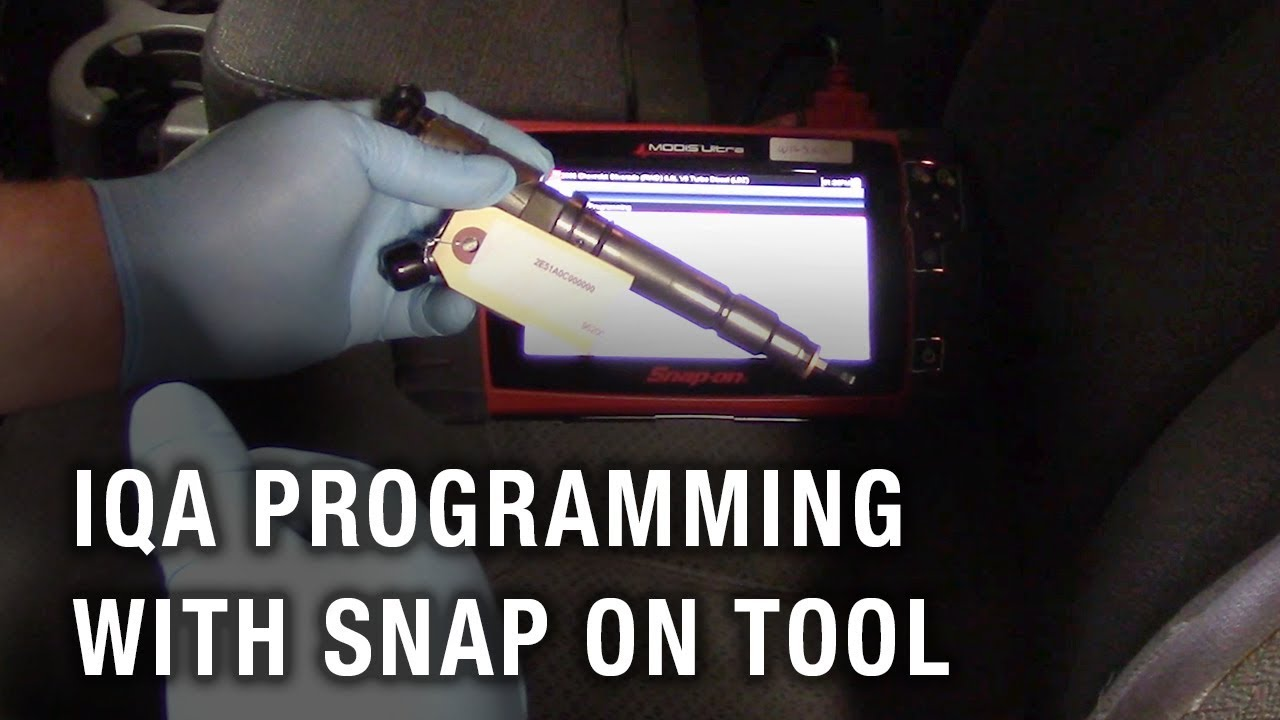 Duramax Flow Rate (Injector Quantity Adjustment) Programming with Snap On  Scan Tool