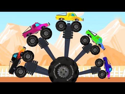 Monster Trucks Finger Family | Finger Family Compilation | Videos for Children letöltés