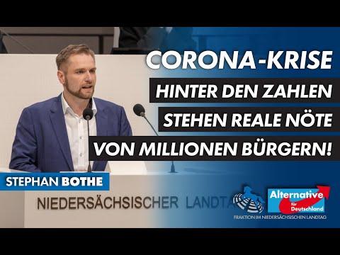 Corona-Krise: Hinter den Zahlen stehen reale Nöte von Millionen Bürgern! Stephan Bothe, MdL (AfD)