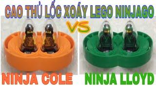 ĐỒ CHƠI LEGO NINJAGO CAO THỦ LỐC XOÁY-TRÒ CHƠI NINJA LLOYD VS NINJA COLE-SPINJITZU MASTERS TOYS