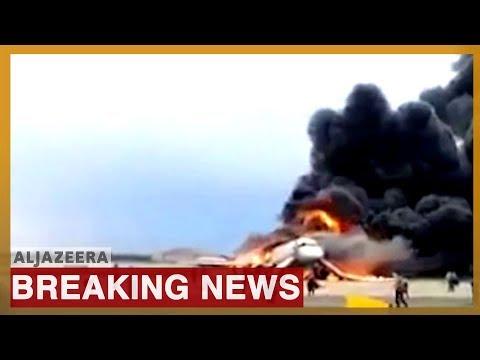🇷🇺 Russian Aeroflot plane on fire as it makes emergency landing in Moscow | Al Jazeera English