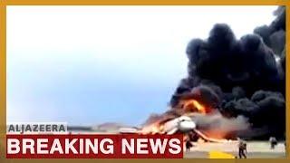 🇷🇺 Russian Aeroflot plane on fire as it makes emergency landing in Moscow   Al Jazeera English