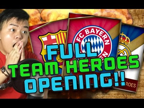 FULL TEAM HEROES PACK OPENING!! 40 TEAM HEROES IN 1 SESSION!! FIFA MOBILE IOS / ANDROID