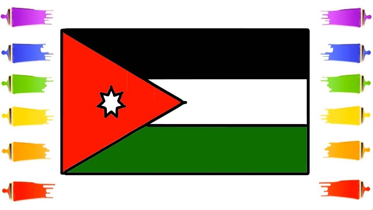 how to draw jordan flag the national flag of jordan color learn